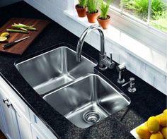 Undermount, Double bowl, Stainless Steel Kitchen Sink