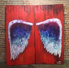 Red Wings (Pair) by Colette Miller – Paper and Fabric