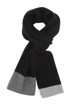 Luksus strik tørklæde til mænd, Ren cashmere.