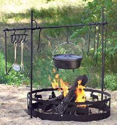 Guide Gear Campfire Cook Stands. Website has tons of camping stuff.