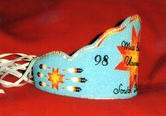 Native beadwork by Lynnette Duenas.  Beaded crown.