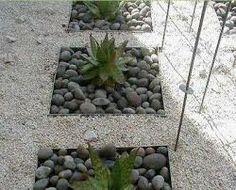 Jard n on pinterest modern gardens buxus sempervirens - Jardines con piedras blancas ...