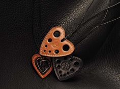 Hearts leather accessories