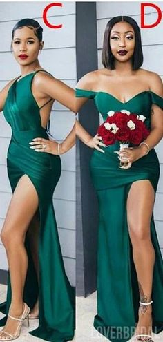 Mismatched Emerald Green Mermaid Cheap Bridesmaid Dresses Online, WG77 – LoverBridal #bridesmaid #wedding #bridesmaiddresses #cheapbridesmaiddresses #weddingidea #longbridesmaiddresses #bridesmaidsdresses Emerald Green Bridesmaid Dresses, Cheap Bridesmaid Dresses Online, Mismatched Bridesmaid Dresses, Emerald Green Party Dress, Emerald Green Weddings, Bridesmaid Ideas, Wedding Party Dresses, Bridal Dresses, Wedding Bouquets