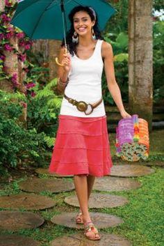 Summer Fun Skirt - Linen Skirt For Summer, Linen A-line Skirt | Soft Surroundings