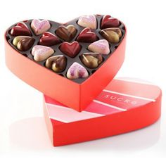 Say I Love You with our rich collection of chocolate hearts. Sweet Red Raspberry, Paris Tea, and Malted Milk Chocolates will steal anyone's ...