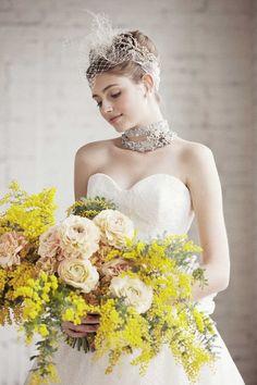 ふわふわ黄色い、可愛すぎる春のお花♡『ミモザ』で作る素敵なブーケカタログ*にて紹介している画像 Yellow Wedding, Wedding Colors, Wedding Bouquets, Wedding Flowers, Yellow Bouquets, Seasonal Flowers, Flower Dresses, Flower Decorations, Beautiful Bride