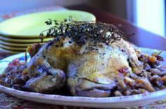 Today I'm sharing with you one of the easiest recipes which is perfect for entertaining, Fabulous Balsamic Roast Chicken with Thyme. It's a whole chicken baked with onions, balsamic vinegar, red wine, and topped with fresh thyme rub.