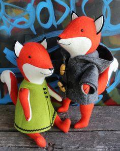 Ginger & Blue A fox PDF sewing pattern van ricracsews op Etsy