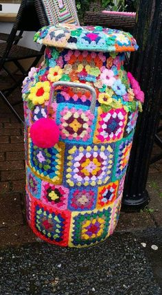Yarn bombing Haverfordwest, Pembrokeshire.