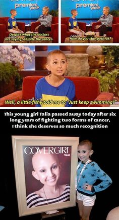 Wow. She is so beautiful and so strong and confident. She will be missed but she just kept swimming