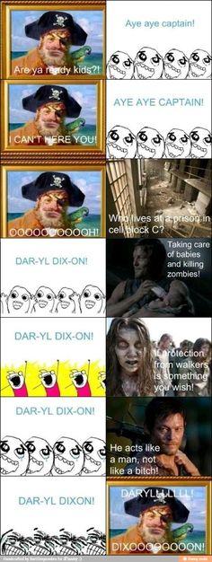 Daryl Dixon is the best! Walking Dead/ Spongebob mashup