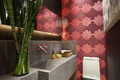 Imagens de lavabos com decoração jovem
