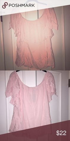 Plus size off the shoulder top in light pink. Plus size off the shoulder top in light pink. New, never worn with tags and original shipping bag. Purchased online and could not return. Forever 21 Tops Blouses