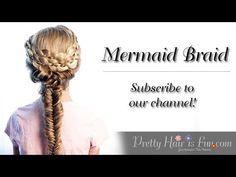 How to do a Mermaid Fishtail Braid | Pretty Hair is Fun - YouTubeBraid Hairstyles, Braids, braids tutorial, braids for short hair, braids for short hair tutorial, braids for long hair, braids for long hair tutorials...