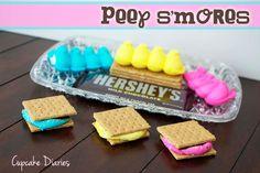 Peep Smores #easter #peeps #smores | CupcakeDiariesBlog.com
