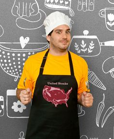 Funny Apron United Steaks Cooking Apron Husband Gift by store365