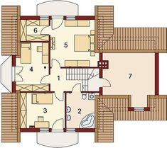 Projekt domu Gracjan 131,33 m² - koszt budowy - EXTRADOM Floor Plans, House, Home Decor, Modern Houses, Trendy Tree, Decoration Home, Home, Room Decor, Home Interior Design