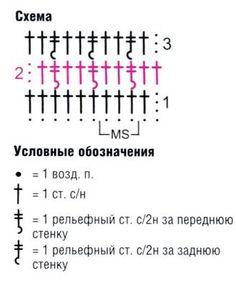 схема вязания волнистого узора 18