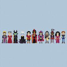 Pixels In Stitches : les Méchants de Disney