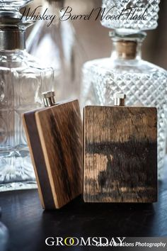 Snag this flask made of the same elements previously used to store and cure the finest bourbon, imparting the same traditional, barrel-aged flavor onto each sip.There are no other groomsmen gift ideas that will fit the bill like this one. Because a man wh Wedding List, Gifts For Wedding Party, Wedding Favours, Party Gifts, Wedding Ideas, Dream Wedding, Wedding Inspiration, Wedding Planning, Groom Wedding Pictures