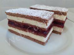 undefined Hungarian Desserts, Cake Bars, Tiramisu, Cake Recipes, Food And Drink, Ethnic Recipes, Projects, Candy, Bakken