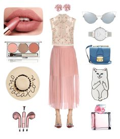 """Ready for hang out baby"" by aidafitriyah on Polyvore featuring Needle & Thread, Rochas, Miu Miu, Olivia Burton, Chantecaille, August Hat, RIPNDIP, Ralph Lauren and PhunkeeTree"