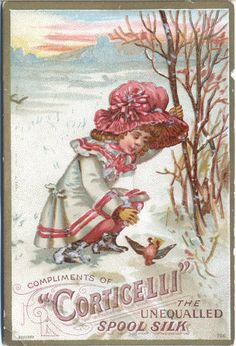Corticelli trade card by Belle Brocante