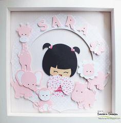 Um quadrinho para decorar a porta da maternidade da Sara. Obrigada pela visita. bjm