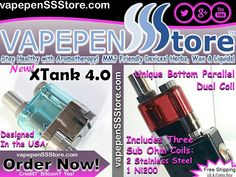 #VAPEPENstore XTank 4.0 by VAPMOD #Vaping #Vape #Vapor #VapeFam #Vaporizer #Ni200 #eJuice #eLiquid #Atomizer #Tank #Luxurious #Techie #MMJ #CBD #THC #CBDOil #Denver #mmjgirls #GanjaGirls #vapeporn #NYC #Atlanta #LosAngeles #Orlando Visit our store vapepenSSStore.com (For a limited time, code VSSS10 gets you 10% off at checkout plus, you can see detailed product videos of all our products on YouTube )