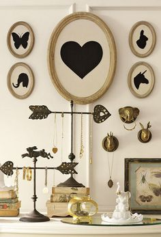 Silhouette gallery wall