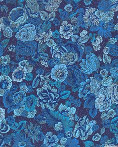 Fusions Garden - Full Tonal Blooms - Midnight Blue