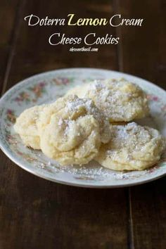 soft, pillowy lemon cookies made with #doterra essential oils ohsweetbasil.com DoTerra Lemon Cream Cheese Cookies