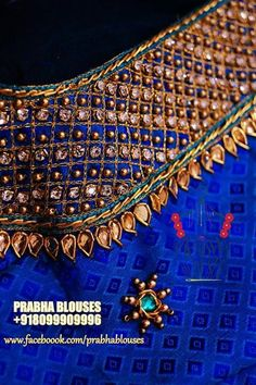 Hand Work Blouse Design, Kids Blouse Designs, Simple Blouse Designs, Bridal Blouse Designs, Magam Work Blouses, Maggam Work Designs, Pattu Saree Blouse Designs, Designer Blouse Patterns, Embroidery Works
