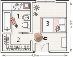 Which little ( or grown ) girl wouldn't want her own room with it's personalized floor plan that includes her very own walk in wardrobe and bathroom? I'm not usually one for gender-specific ( see:pink ) rooms, but this one - though pink, is delightfully understated. With its hint of vintage primness and overall airy atmosphere, it simply took my breath away.