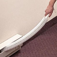 I know I could use a bottle washer which is similar to clean my baseboard heaters but my heaters are behind other furniture so this would be great to reach behind. Baseboard Heaters, Baseboard Heater Covers, Cleaning Solutions, Cleaning Hacks, Life Organization, Organizing Life, Bottle Washer, Cleaning Baseboards, Space Saving Storage