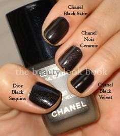 The Beauty Look Book: Chanel Le Vernis Black Velvet, Gold Lame & Illusion D'Or