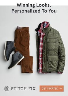 With Stitch Fix, we pair you with a Personal Stylist, who hand-selects clothing and accessories to match your taste, size and price range. What's even better? There's never any commitment—this is fashion on your terms. Try on pieces at home and keep your Stylish Mens Outfits, Casual Outfits, Men Casual, Fashion Outfits, Fasion, Clothing Boxes, Mens Clothing Styles, Men Clothing App, Personal Stylist