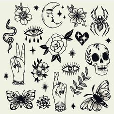 old school tattoo traditional black / old school tattoo 13 Tattoos, Mini Tattoos, Small Tattoos, Retro Tattoos, Flash Tattoos, Tattos, Tattoo Sketches, Tattoo Drawings, Halloween Tattoo Flash