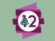 12 Apps of Christmas logo by Trevor Boland