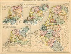 afbeelding van kaart Het Koningryk Der Nederlanden 1815 van De Erven Thierry en Mensing ()