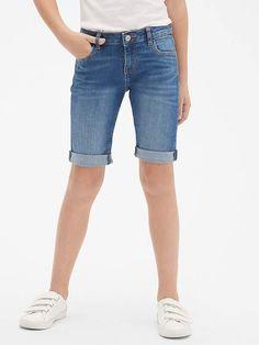 7e0d92dd69 Gap Girls  Denim Bermuda Shorts Medium Wash