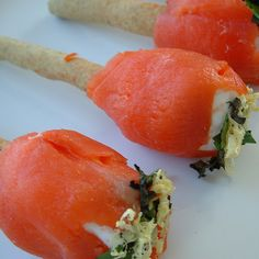 salmon tulips - Magpie Caterers