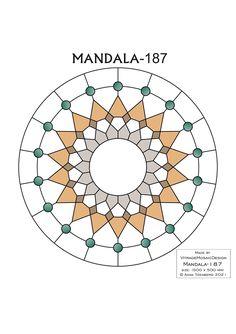 MANDALA-187 Stained glass pattern, Mosaic pattern, Painting glass pattern, to DOWNLOAD PDF, Suncatcher, Window panel, Window handing ויטראז by VitrageMosaicDesign on Etsy