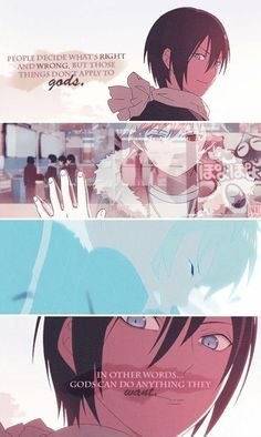 Noragami ~~ I'm not sure Yato believes what he himself is saying...