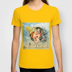 Retro Summertime T-shirt by Dotiee - $22.00