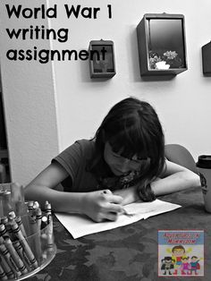 This World War 1 writing assignment will get your reluctant writers excited to try this project as they design their own comics. Remembrance Day Activities, Writing Assignments, Modern History, American History, World War, Homeschool, Writer, Core, Study
