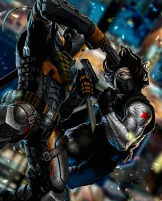 Deathstroke Vs The Winter Soldier By Arthur Dacayo
