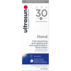 Ultrasun SPF30 Anti-Pigmentation Hand Cream 75ml €19