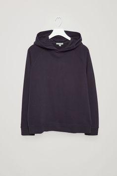 ec2a4aa6a7 COS image 2 of Hooded sweatshirt in Navy Mens Sweatshirts